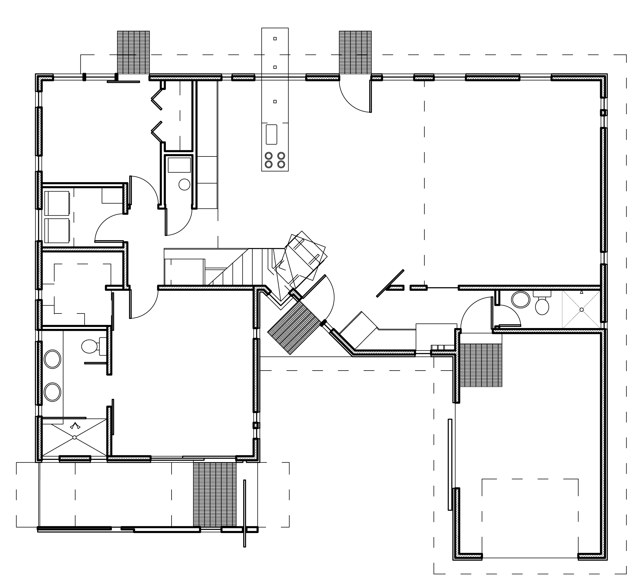 Modern house plans contemporary home designs floor plan 03 for Contemporary open floor plans